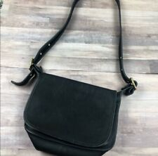 Vintage Coach black cross body leather bag