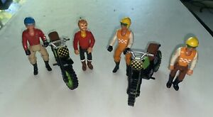"""FISHER PRICE """"Adventure People"""" 2 Dirt Bikes Riders Lot Collection Nice !"""
