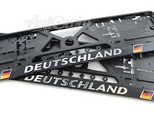 Euro Standart License Plates Frames for Mercedes-Benz with Deutschland Logo 2pcs