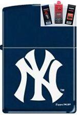 Zippo 239 New York yankees logo Lighter + FUEL FLINT & WICK GIFT SET