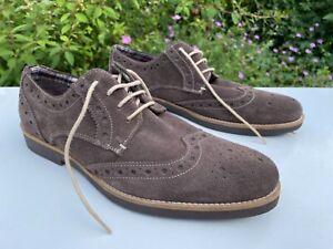 Lightweight Lambretta brown Suede Lace up brogue casual shoes 7 UK 41 EU 8 US
