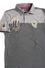 US RUG B UNLIMITED FASHION GRAY/BLACK POLO SHIRT sz XL