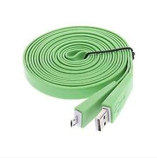 CÂBLE PLAT RENFORCER USB 2/MICRO USB - VERT - 1 M - SAMSUNG GALAXY S4,6,7