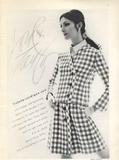 1968 Lord & Taylor's Fashion Mario Forte' Design Culotte-Cardigan Suit PRINT AD