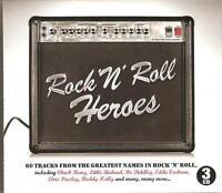 ROCK 'N' ROLL HEROES - 3 CD BOX SET - CHUCK BERRY, LITTLE RICHARD & MANY MORE