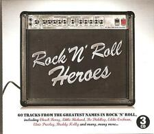 ROCK 'N' ROLL HEROES - 3 CD BOX SET - CHUCK BERRY, LITTLE RICHARD & MANY MORE