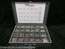 Phillip Pan Head Machine Screw Stainless Assortment With Nuts Washers, MetalTray