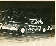 Vintage Photo Dirt Track Racing Race Car Rockford Rent All