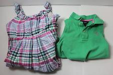 Ralph Lauren Girls Lot of 2 Size 7 Dress and Sleeveless Polo