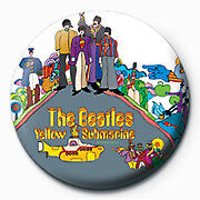 The Beatles Yellow Submarine 25mm Button Pin Badge Official McCartney Lennon Ret