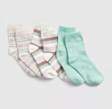Gap No Show Socks Size M 13-2 Girls NEW NWT Pack 3 Lot butterfly Daisy
