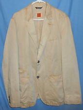 Hugo Boss Odion 3 Khaki Beige Cotton Sport Coat Jacket Blazer 44R