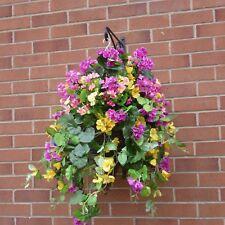 Cone Hanging Baskets With Artificial Petunia & Geranium  G-24