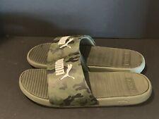 New! Mens Puma Cool Cat Slides Sandals/Shoes (Black/White; EUR 46) - Size 12