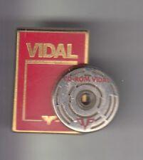 RARE PINS PIN'S .. ONG MEDECINE SANTE LIVRE CD ROM  MEDICAMENT VIDAL 3D BIG ~C2