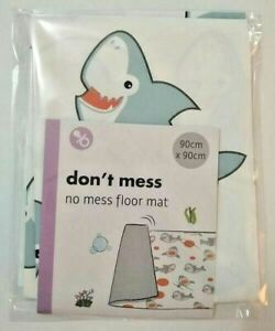 Large Baby Floor Mat No Mess High Chair Feeding Cover Messy Play Splash Painting