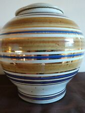 VINTAGE VASE OR URN SIGNED TYRONE LARSON BEE HIVE DESIGN ART POTTERY-MINT!