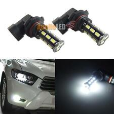 2pcs 9005 HB3 Diamond White 18-5630-SMD LED Bulbs for Car Fog DRL Daytime Lights