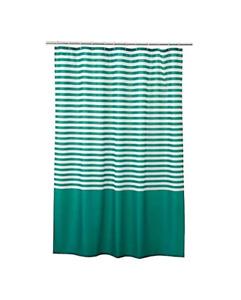 "IKEA VADSJON Shower Curtain Green and White 71""x 71"" Shower Bathroom Tub"