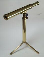 1983 Tasco 1B 20 x 20 mm Brass Maritime Telescope w/Stand & Lined Wooden Box  K