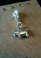 CLIP ON CHARM PIG FOR BRACELET KEYRING PURSE BAG ZIP