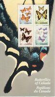 "Canada #1213aii ""two flies"" error #1211ii MNH, Butterflies SE-tenant Stamps 1988"