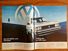 1982 VW Volkswagen Rabbit Diesel Ad  How the Rabbit Works:  The Diesel