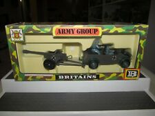 Vintage 1976 Britains Deetail #9788 German Kubelwagen & Field Gun Original Box