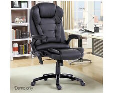 Executive Office Massage Chair Recliner Heated Computer PU Leather 8 Point Black
