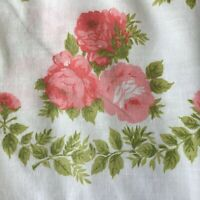 SET 2 VTG Pillow Protectors Pink Roses Floral Pillowcases Zippers