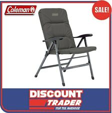 Coleman 8 Position Outdoor Camping Chair Pioneer Recliner Charcoal Grey 1423236