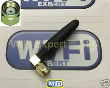 "New 1dbi 2"" Angle 2.4GHz 5GHz Dual Band WiFi Antenna RP-SMA Linksys D-Link"