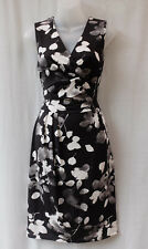 Target Size 10 Dress Stretch Black+White Floral Work Smart Casual Evening Party
