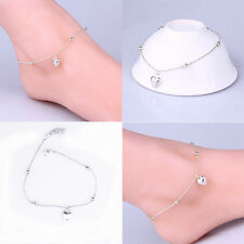 Silver Chain Anklet With Stars Love Solid Temperament Foot Chain Anklet