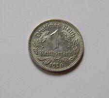 DRITTES REICH: 1 Reichsmark 1936 F, J. 354, vorzüglich/prägefrisch, SELTEN !!!
