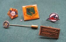 5 Vintage Lapel Badges Military Air Force USA