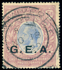 MOMEN: GEA GERMAN EAST AFRICA TANGANYIKA SG #68 1921 SCRIPT CA USED LOT #60017