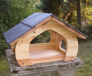 Vogelvilla Vogelhaus Vogel-Futterhaus Naturschieferdach