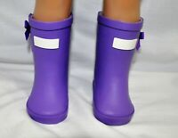 """Fits Our Generation American Girl 18"""" Dolls Clothes Shoes Purple Gum Boots"""