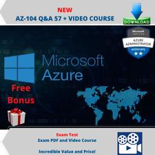 Azure Administrators AZ-104 Test Exam Q&A PDF FILE + Video Course
