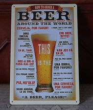 Beer Sign Plaque Bar metal Tin Signs Pub Poster Home Wall Decor