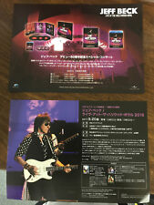 Jeff Beck Japan promo sample Flyer mini-poster live at the Hollywood Bowl Dvd Cd