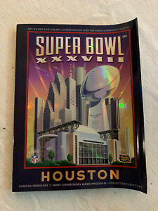 Official NFL Super Bowl XXXVIII Program - NE Patriots vs Carolina Panthers