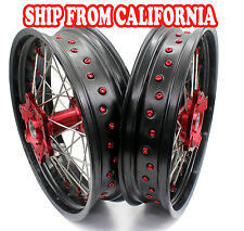 3.5*17/4.25*17 HONDA XR650L 93-15 SUPERMOTO MOTARD COMPLETE WHEEL RIMS SET