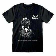 Men's Sesame Street Cookie The Monster Black T-Shirt