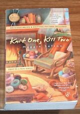 Reduced MAGGIE SEFTON Knit One,Kill Two*NFINE* KNITTING MYSTERY#1+Recipe+Pattern