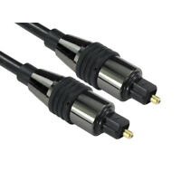 2m LONG TOSlink Optical Digital Cable Audio Lead PREMIUM CHROME RANGE
