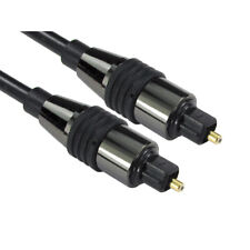 2m LONG TOSlink Optical Digital Cable Audio Lead PREMIUM CHROME RANGE