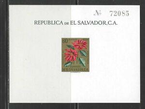 EL SALVADOR - C192 S/S - MNH -1960 - FLOWERS - POINSETTA