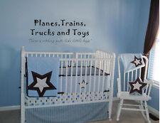 PLANES TRAINS TRUCKS & TOYS LITTLE BOYS VINYL WALL DECALS CHILDREN DECOR ART